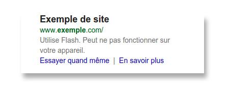 Message d'avertissement de Google