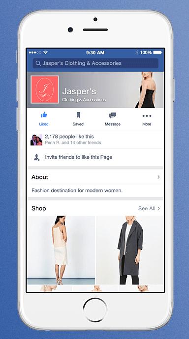 facebook espace shop
