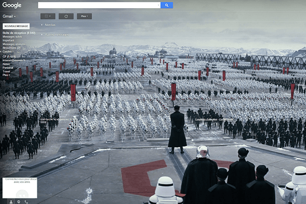 Star Wars Google gmail dark