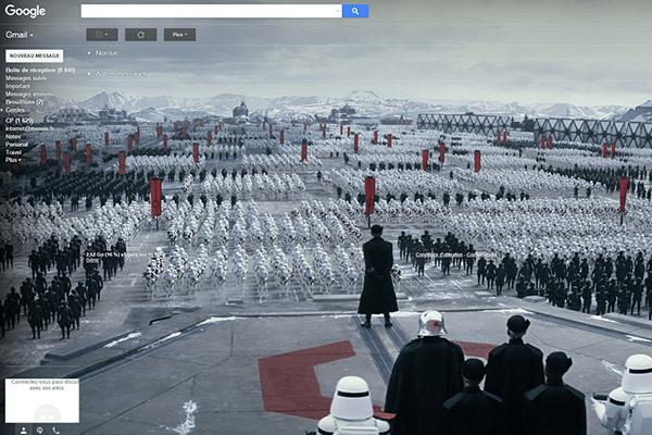 Star Wars Google gmail dark