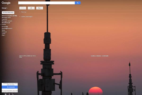 Star Wars Google gmail lumineux