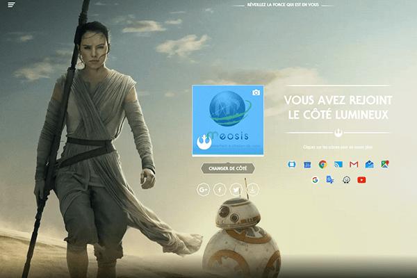 Star Wars Google lumineux
