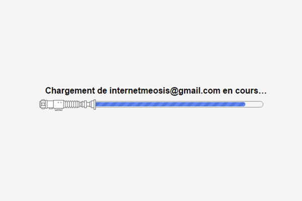 barre gmail lumineux